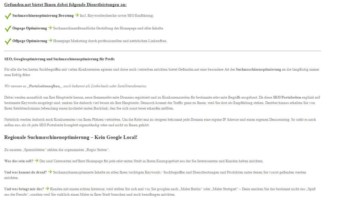 Googleoptimierung in  Wört