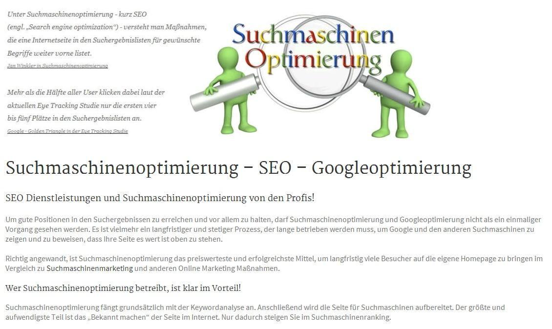 SEO: Suchmaschinenoptimierung und Googleoptimierung aus Wittlich