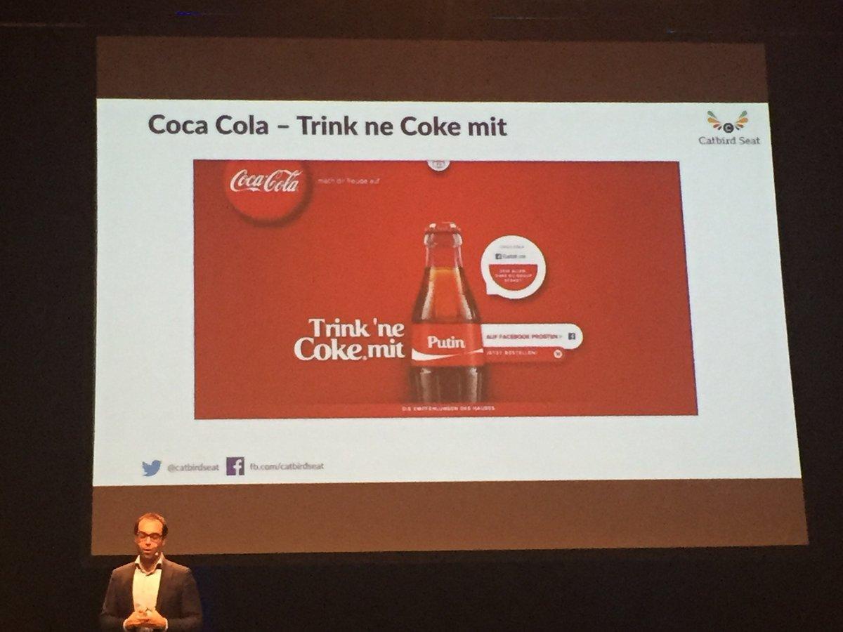 Trink Coca Cola mit? Eigener Name...
