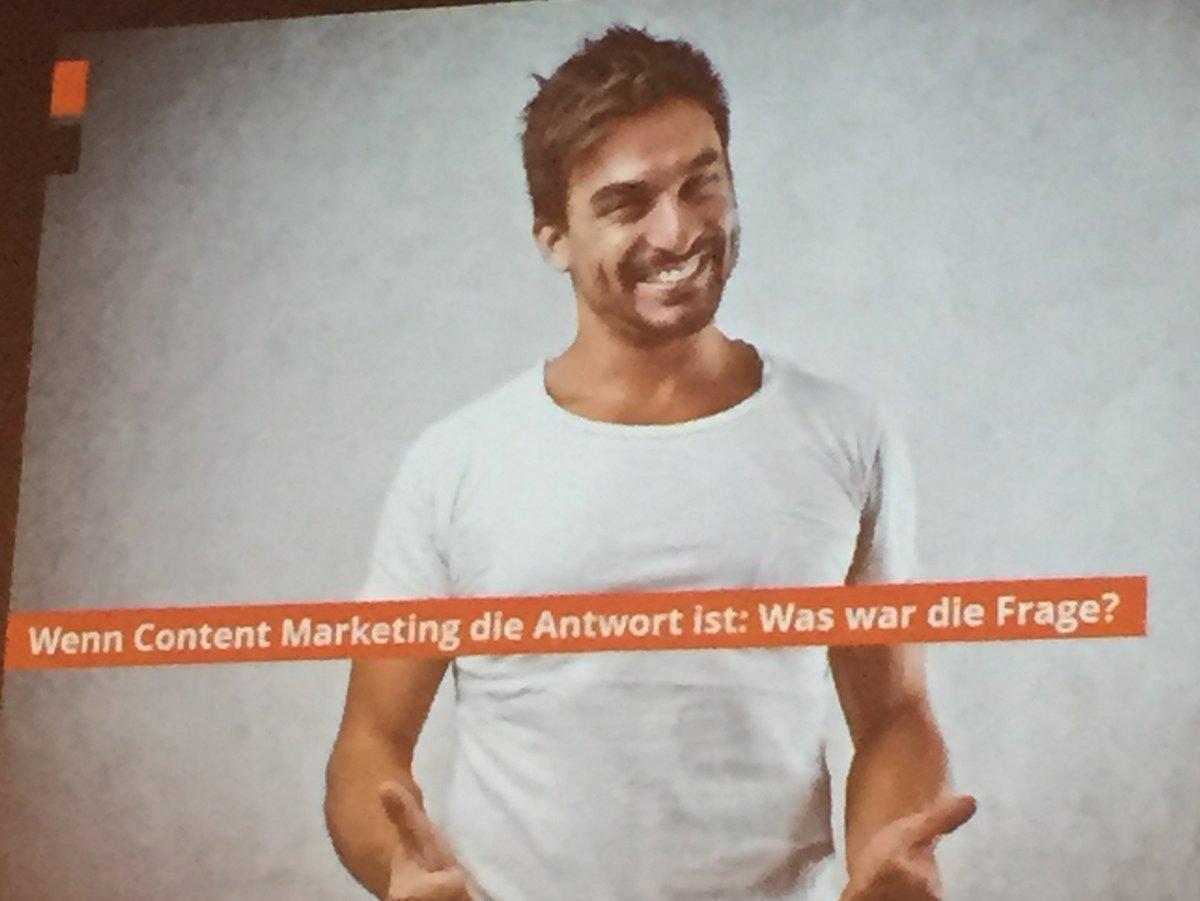 Wie war noch die Frage, wenn Content Marketing die Antwort ist?