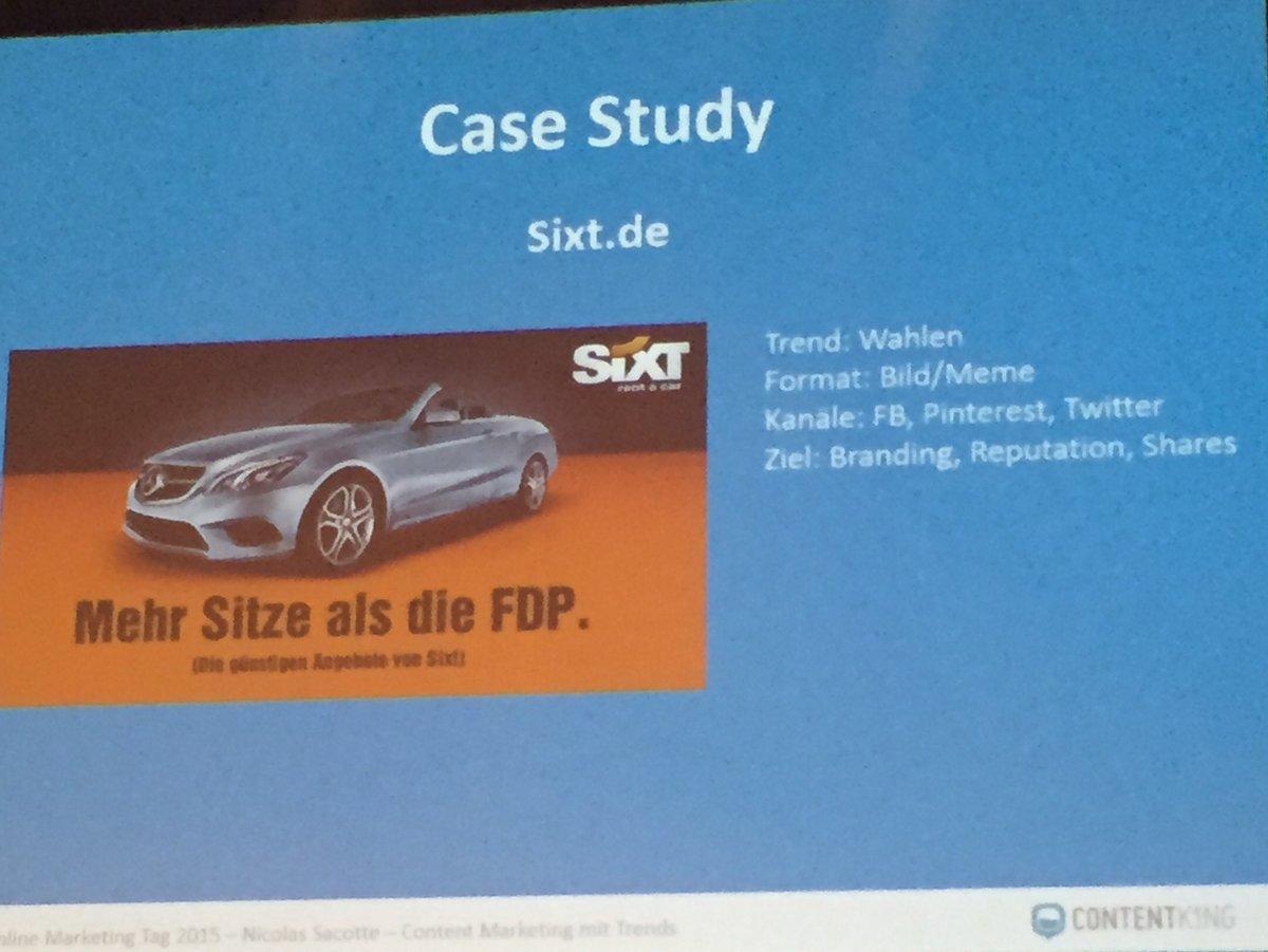 Sixt Kampagne: Mehr Sitze als die FDP - Sehr böse, weil der Schirmherr von der FDP war...
