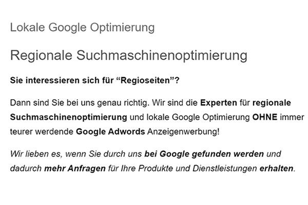 Regionale-Suchmaschinenoptimierung für  Weinsberg