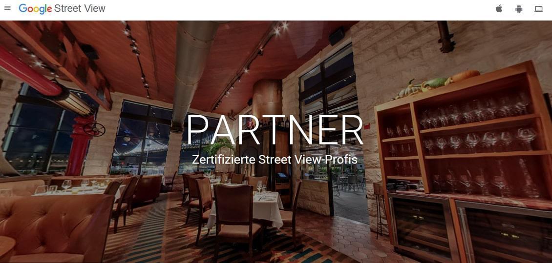 google fotografie: Google Streetview Trusted / Google Business View Partner Fotograf.
