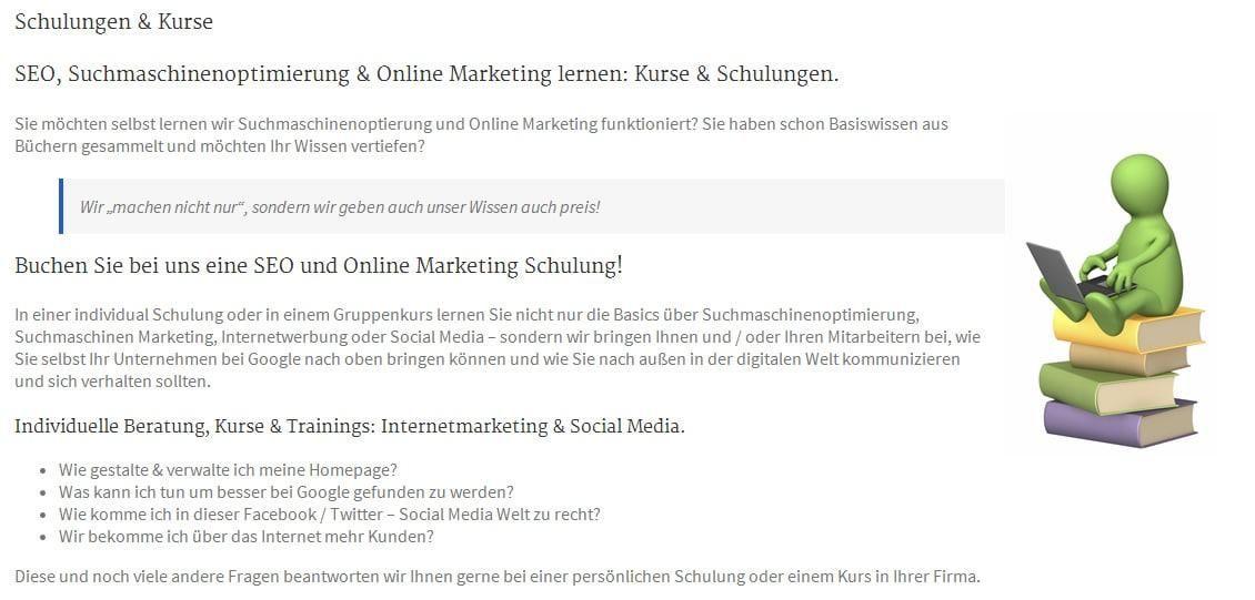 Gefunden.net Werbeagentur & Internetagentur: Google und SEOoptimierung und Online Marketing Seminare, Schulungen und Kurse