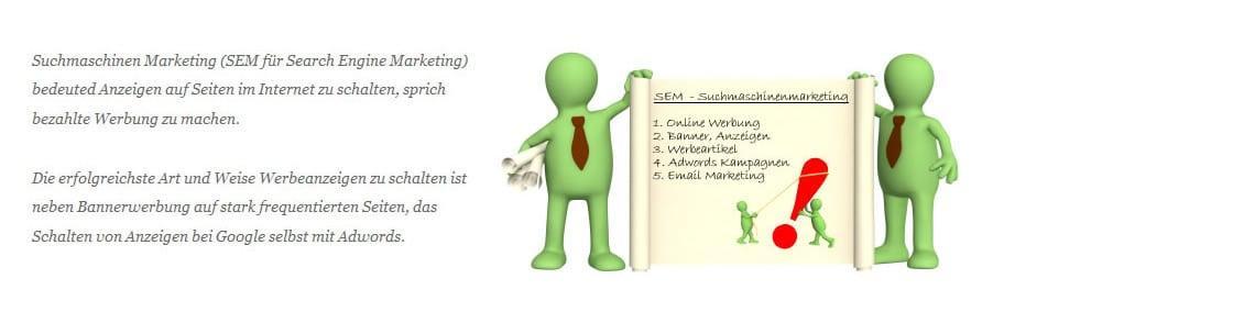 SEM, Adwords Werbung und Suchmaschinen Werbung