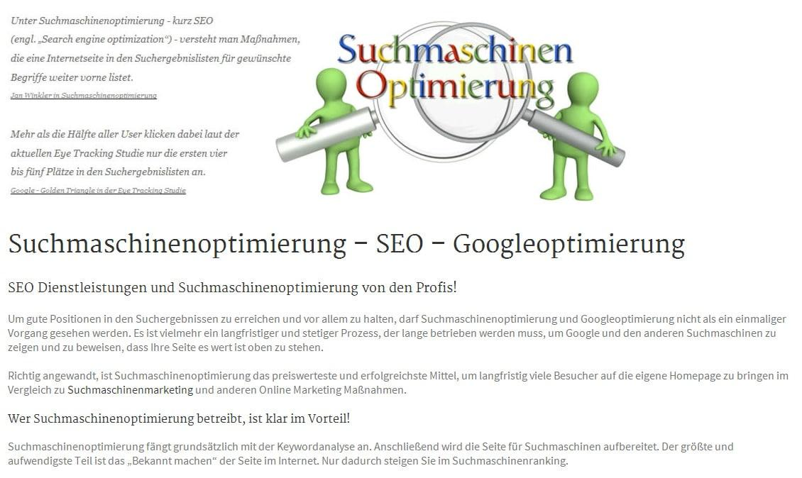 SEO: Suchmaschinenoptimierung und Googleoptimierung für  Wiesensteig