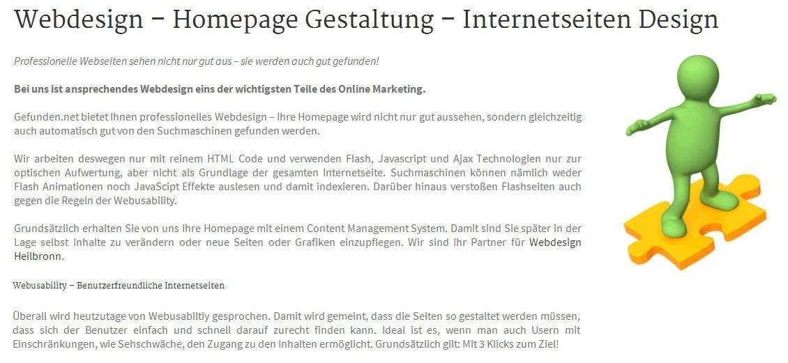 Webdesigner, Webdesign: Internetseiten Gestaltung, Homepage Design - Gefunden.net Gundelsheimer Werbeagentur