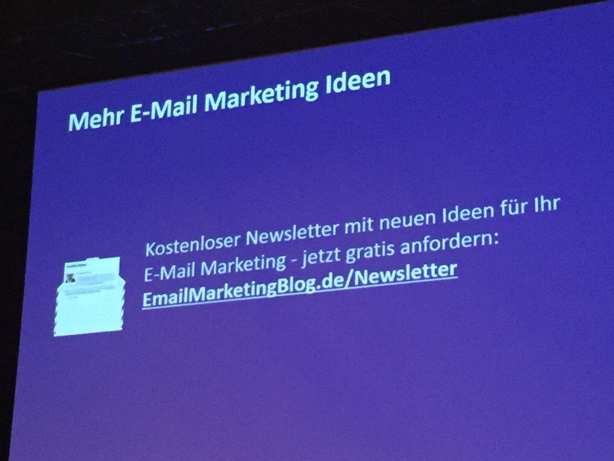Wer braucht mehr E-Mail Marketing Ideen?