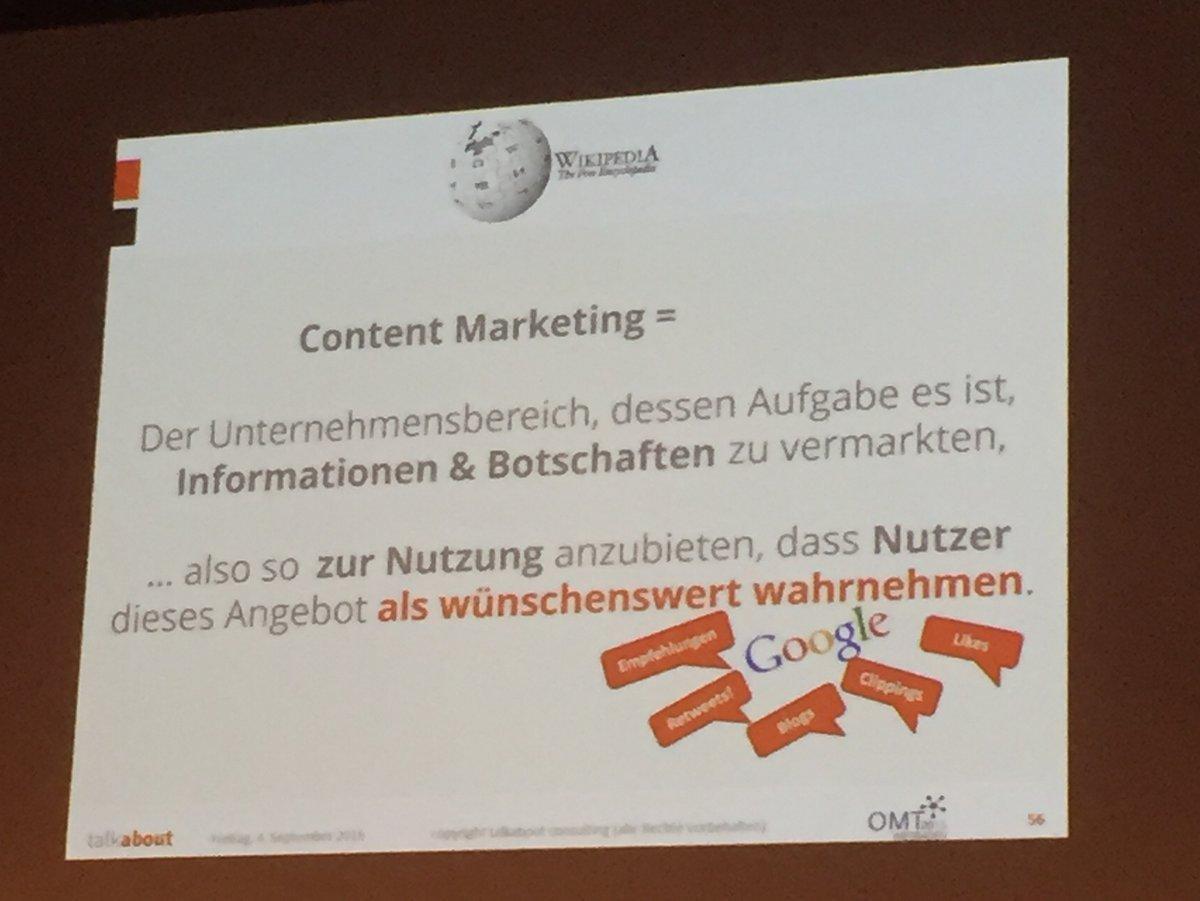 Richtiges Content Marketing