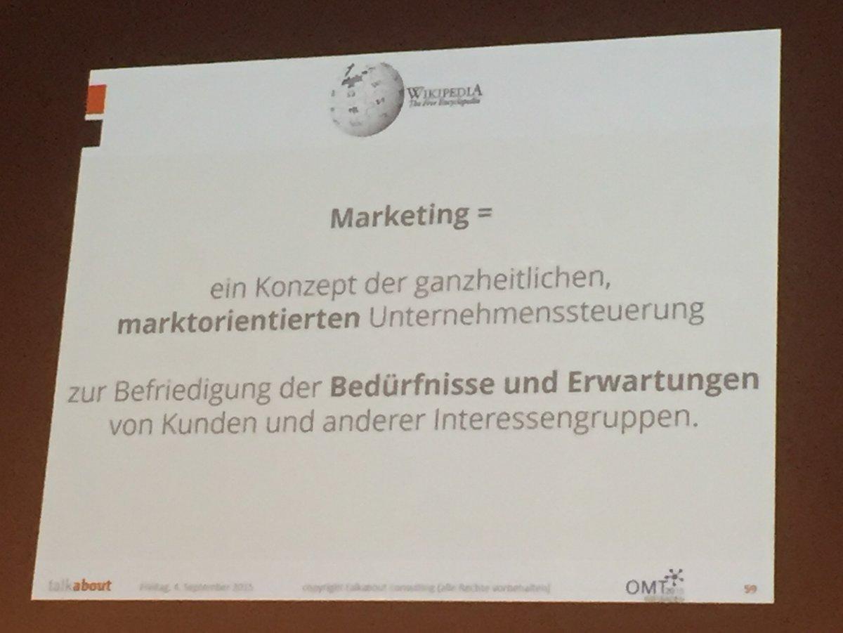 Aus Marketing...