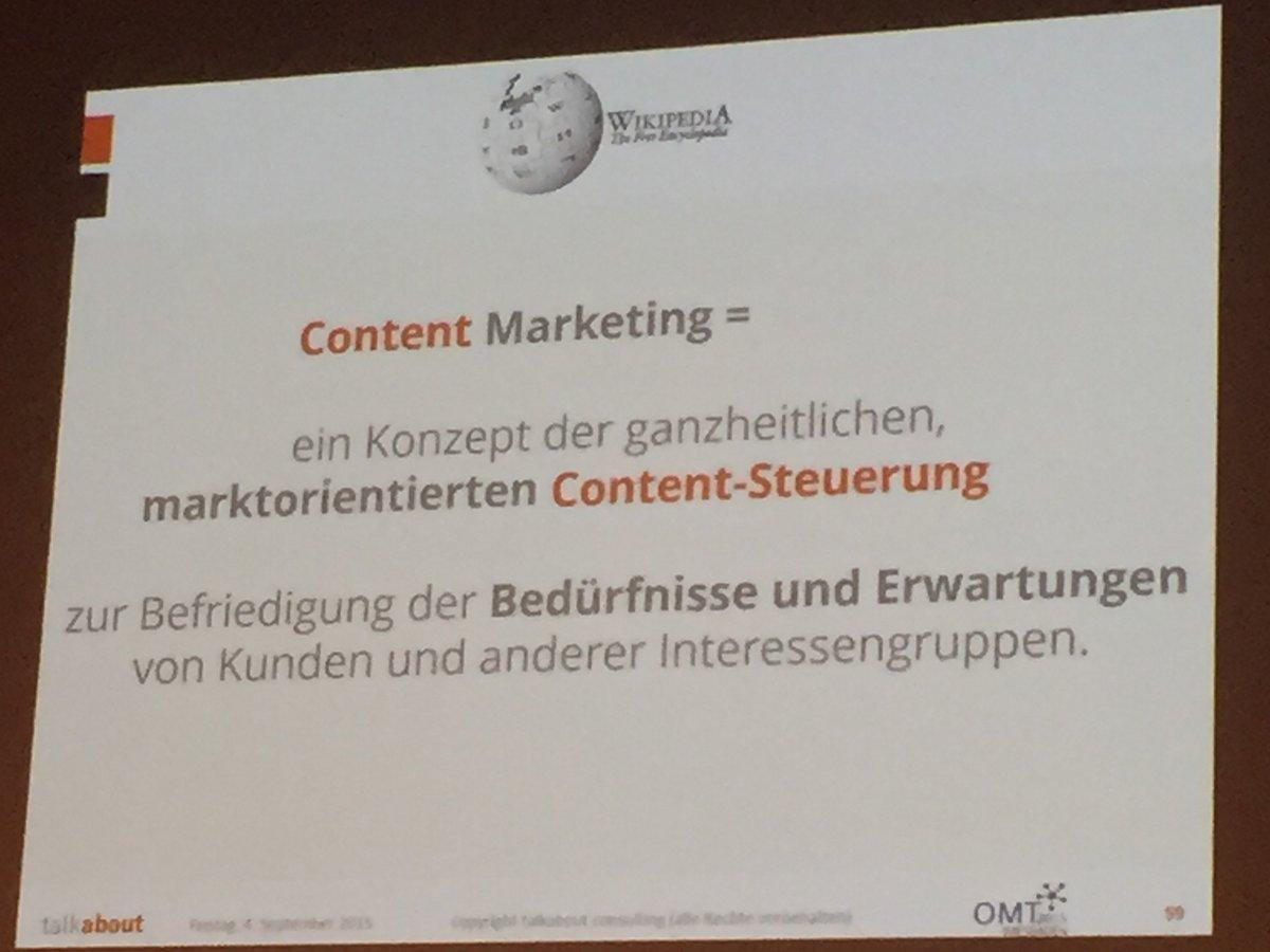 """wird """"Content Marketing""""."""