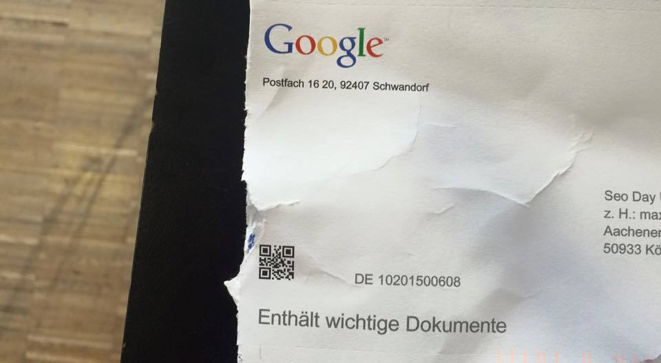 SEO Day, Brief von Google